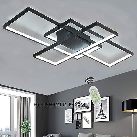 Luminaire LED Plafonnier Dimmable Salon Lampe Plafond Avec Telecommande,  Moderne Chambre Carré Acrylique Ombre Aluminium Design pour Applicable à ...