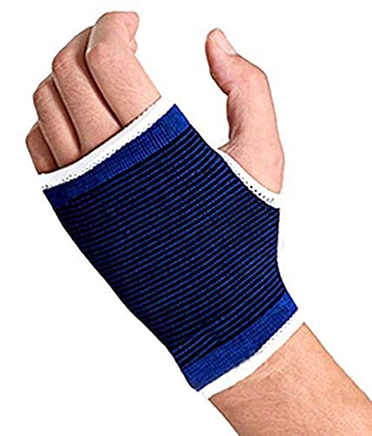 Bloomun Unisex Palm Wrist Glove, Hand Support Protector Brace  Free Size, Blue  Everyday Bras
