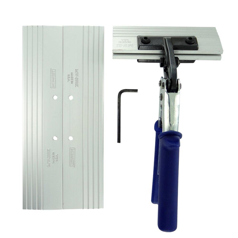 MIDWEST Seamer Set - 5 & 9 Inch Offset Sheet Metal Bender Set with Aluminum Blades & KUSH'N-POWER Comfort Grip Handle - MW-SO59