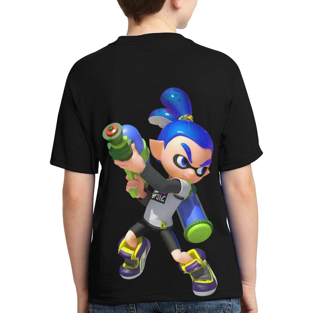 Hatstng Splatoon 2 Boys Girls 3D Print Crew Tee Youth Short Sleeve T-Shirt Tanks Tops