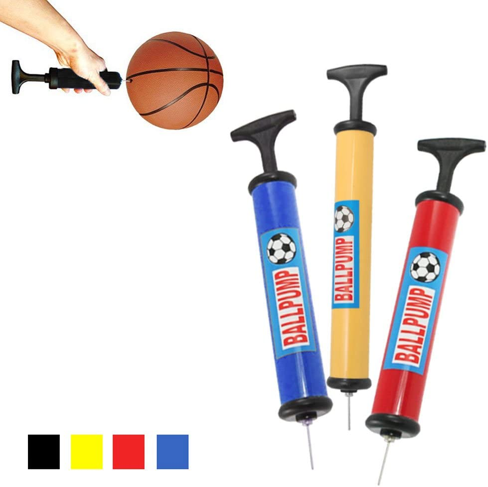 Sports Ball Manual Hand Air Pump Inflate Basketball Football Volleyball Needle