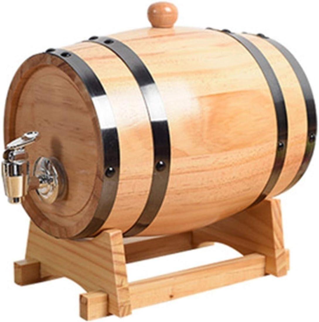 YIYUNKJ Dispenser Beer Casks, Vintage Oak Barrel Barrel Cerveza Forhousehold Wine Keg Gabinete de Vino Decorado Cerveza Barril Almacenamiento o Envejecimiento Vino Barrels Wine Holder
