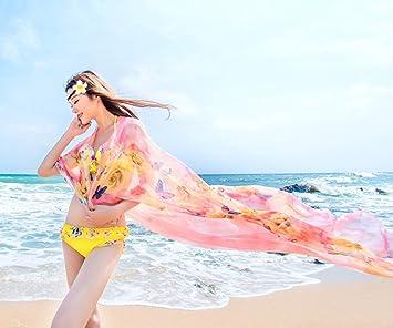 FANGSHAI Pañuelo Protector Solar Coreano Mujeres Larga Nueva Bufanda Delgada Viajar Toalla de Playa Doble Chal ZXCV (Color : 1): Amazon.es: Deportes y aire ...