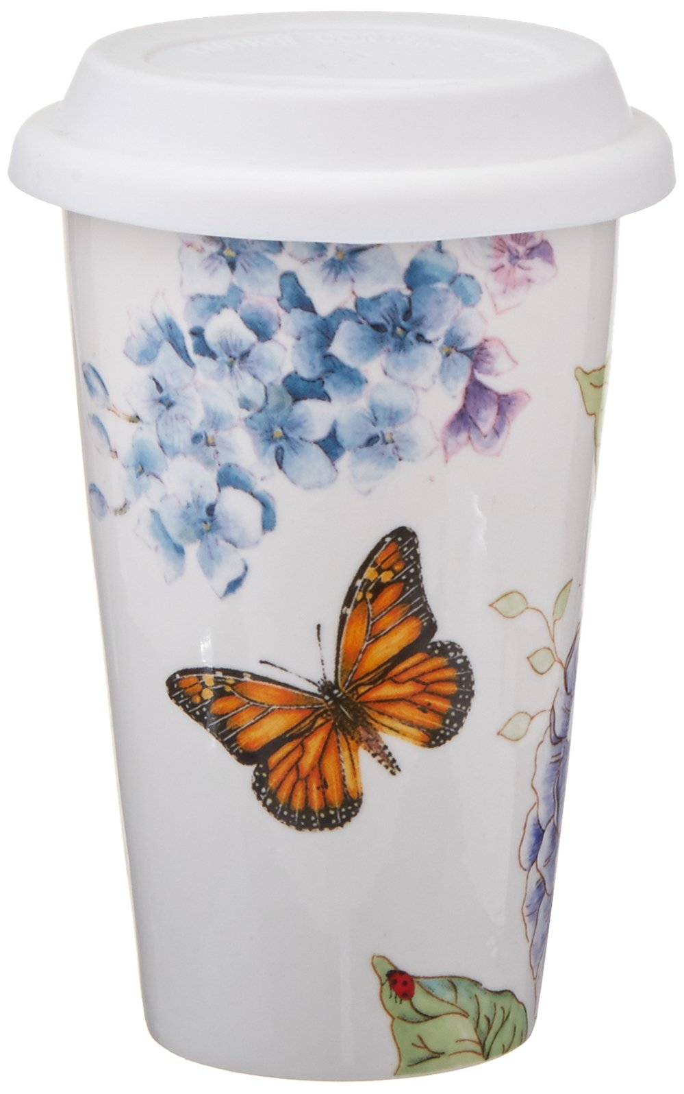 New Thermal Coffee Mug Lenox Butterfly Meadow Double Wall