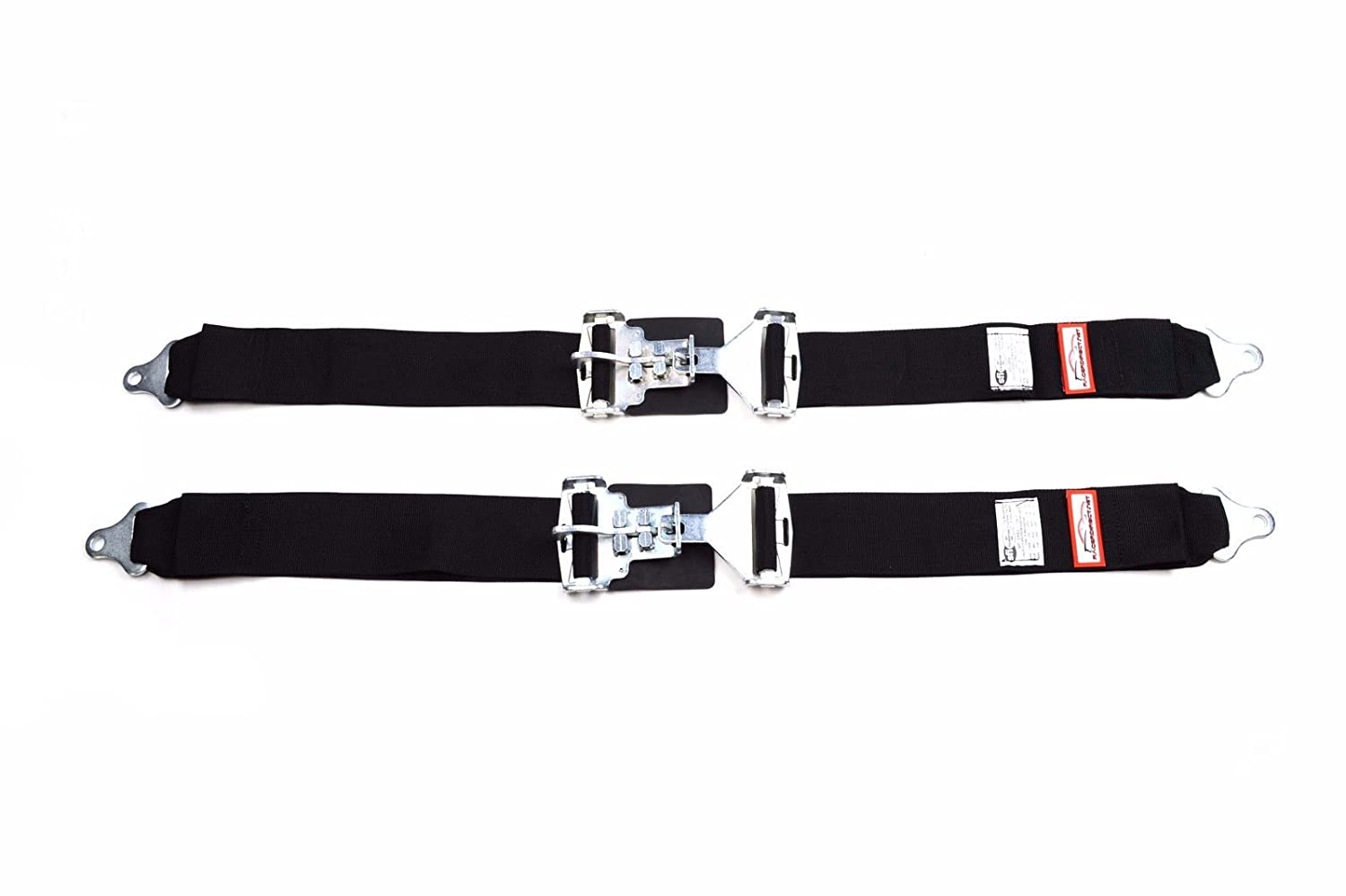 Racerdirect.net Rally New Pair 3' Latch & Link Lap Belt 2 Point Racing Belt Bolt in Black RJS