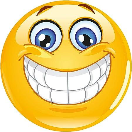 Alfombrilla de ratón Smiley I Ø 22 cm redondo I Happy Emoticon alfombrilla de ratón tamaño estándar, antideslizante   risas sonrisa   amarillo I ...