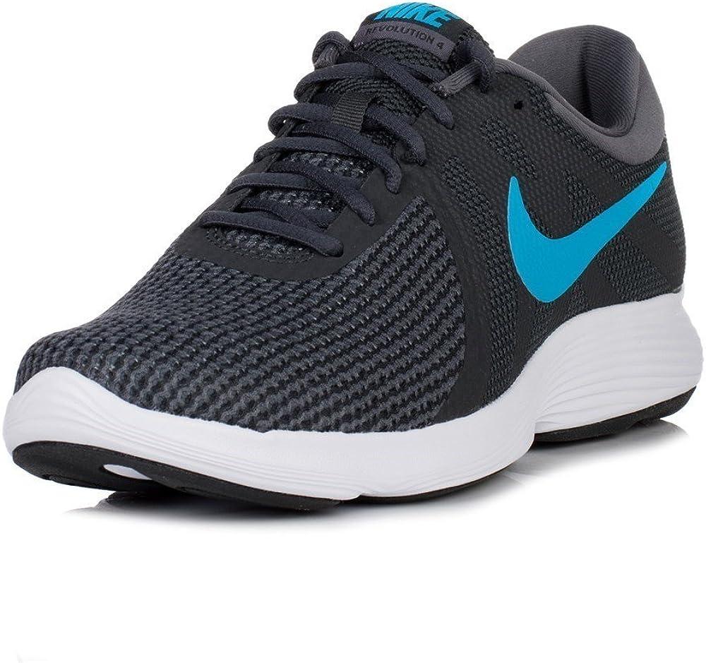 Nike Revolution 4 EU, Zapatillas de Running para Hombre, Multicolor (Anthracite/Lt Blue F 003), 38.5 EU: Amazon.es: Zapatos y complementos