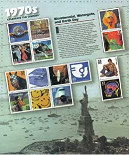 Celebrate The Century 1970s Sheet Of Fifteen 33 Cent Stamps Scott 3189
