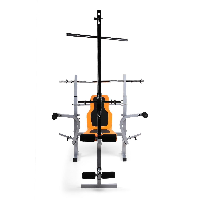 Gimnasio en casa Klarfit Ultimate Multi-Gym 3500; banco de peso, 150 kg de capacidad de carga; entrenamiento de resistencia y fuerza de cuerpo entero; ...