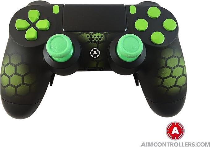 PS4 DualShock 4 PlayStation 4 Wireless Controller - Custom AiMControllers Hex Green Design Scuf: Amazon.es: Videojuegos