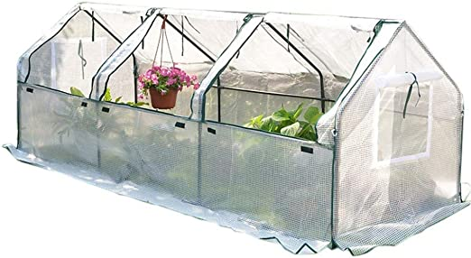 Invernaderos Plastico huerto terraza Grande for Semillas de jardín al Aire Libre Plantas jóvenes Flores, casa de Cultivo en Invierno con excelente Cubierta de ventilación: Amazon.es: Hogar