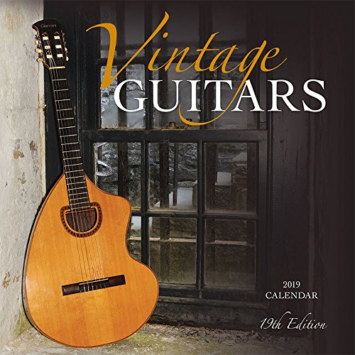 Vintage Guitars 2019 12 x 12 Inch Monthly Square Wall Calendar by Wyman, Instrument Classic