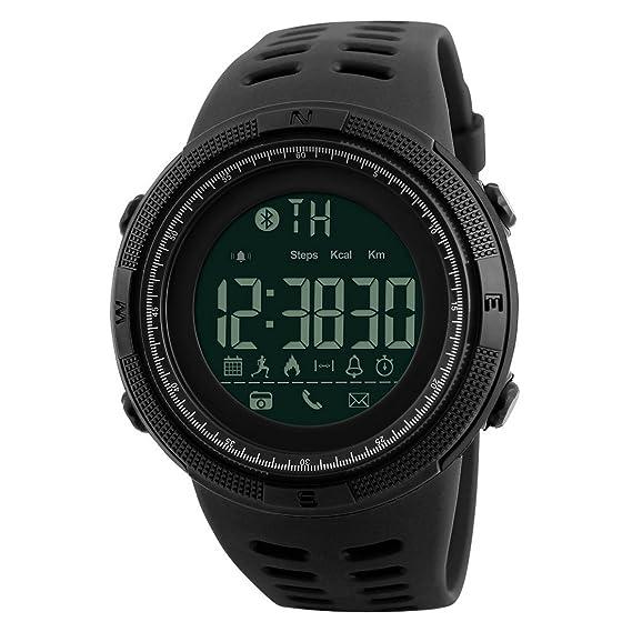 Reloj inteligente para hombre, con podómetro, relojes deportivos multifunción, recordatorio digital de relojes