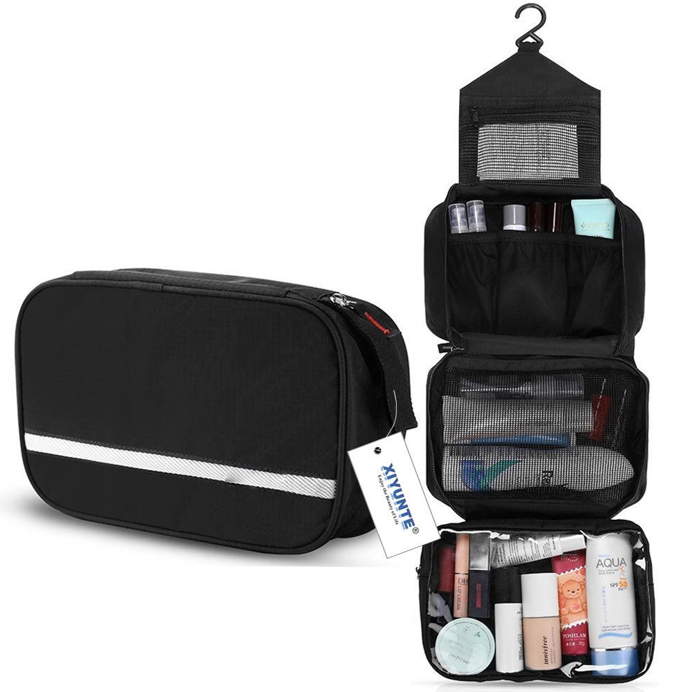a03ca5a9f000 Hanging Travel Toiletry Bag - Folding Portable Waterproof Cosmetic ...