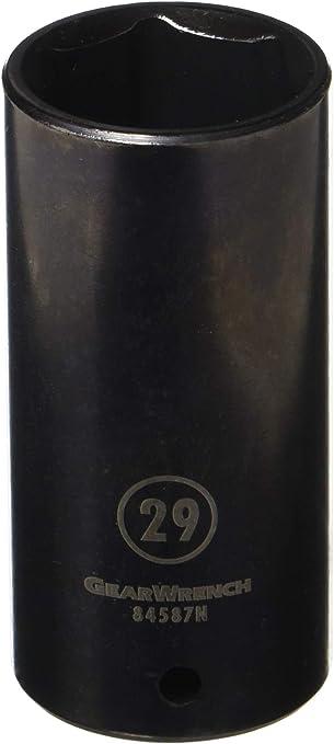 Black 3.228 in GEARWRENCH 84566N 1//2 Drive 6 Point Deep Impact Metric Socket 8mm