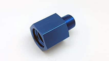 Autobahn88 Aluminum Fitting Gauge Sensor Sender Thread Reducer, Female M12 P1.5 to Male