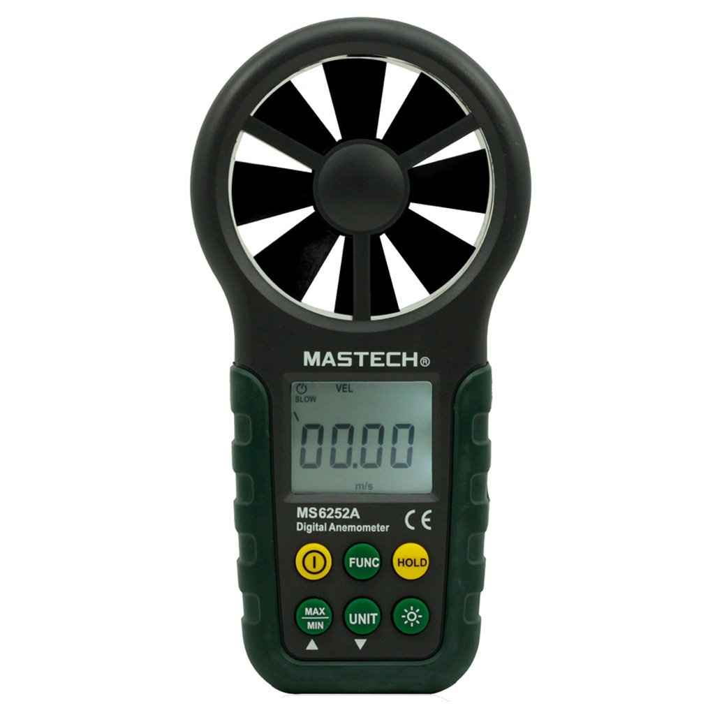 Mastech MS6252A Handheld Digital Anemometer Wind Speed Meter Environmental Tester with Bar Graph by Mastech