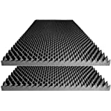 "Foamily Acoustic Foam Egg Crate Panel Studio Soundproofing Foam Wall Panel 48"" X 24"" X 2.5"" (2 Pack)"