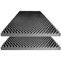 """Acoustic Foam Egg Crate Panel Studio Foam Wall Panel 48"""" X 24"""" X 2.5"""" (2 Pack)"""