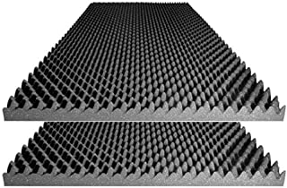 """product image for Foamily Acoustic Foam Egg Crate Panel Studio Foam Wall Panel 48"""" X 24"""" X 2.5"""" (2 Pack)"""