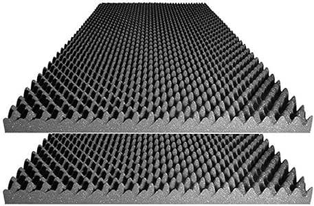"Foamily Acoustic Foam Egg Crate Panel Studio Foam Wall Panel 48"" X 24"" X 2.5"" (2 Pack)"