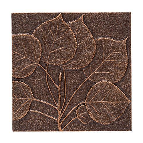 Whitehall Products Aspen Leaf Wall Decor, Antique Copper Leaf Wall Decor