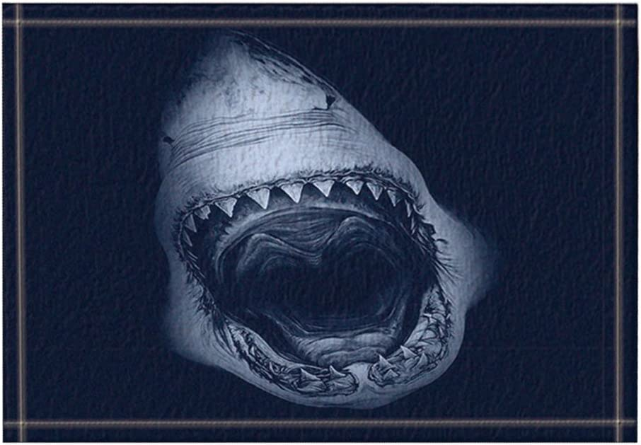 Details about  /Undersea Plants Shark Home Floor Door Mat Kitchen Carpet Absorbent Bath Mat