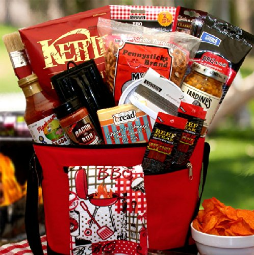 The Master Griller BBQ Gift Chest - Great Gift for Christmas, Birthdays, Fathers Day or Any Occasion by The Gift Basket Gallery