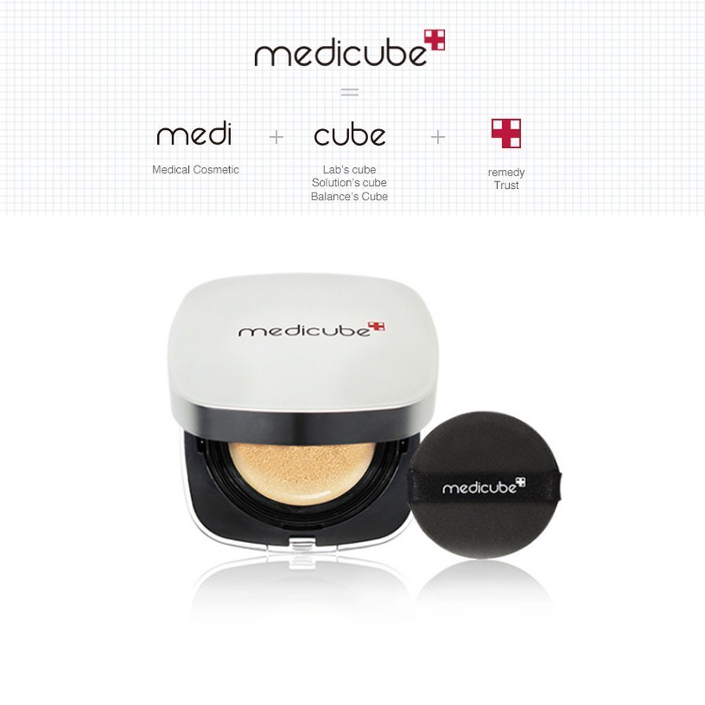 Medicube Red Cushion Foundation 15g / perfect cover / trouble acne care (23 Natural Beige)
