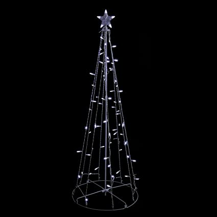 sienna cool white led lighted outdoor christmas cone tree yard art decoration 5