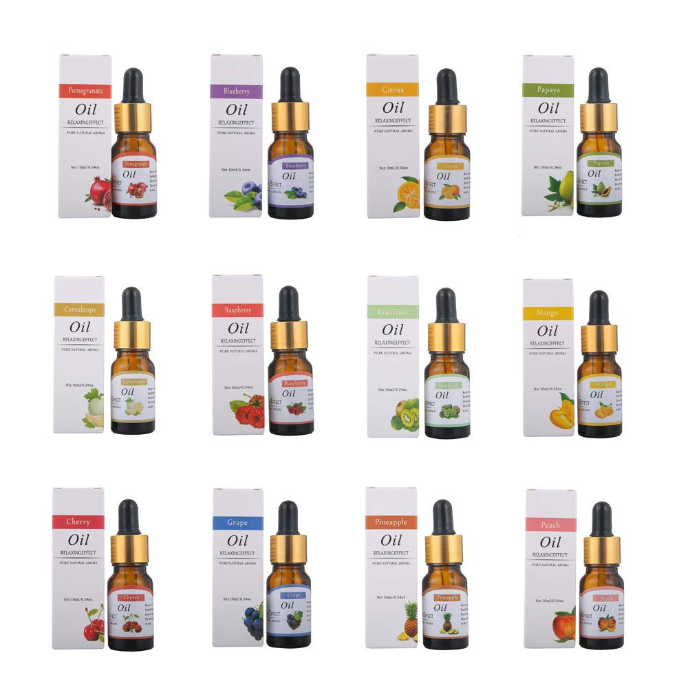 Aromatherapy Oil, Essential Oil Set 100% Pure Aromatherapy Oils Gift Set (Top 13, 10ml) for Aromatherapy Oils,Oil for diffusers,Humidifier Oils,Oil Burners,Spa, Air Purifier (C) by Promisen (Image #2)