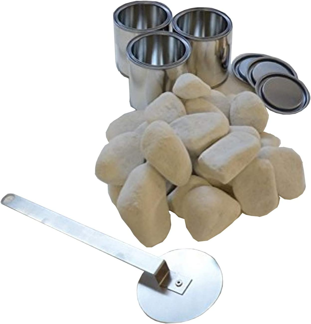 Chimenea de etanol modelo TCP color a elegir latas de combustible Kaminbau Mierzwa cristal de seguridad y extintor de acero inoxidable incluye juego de piedras decorativas