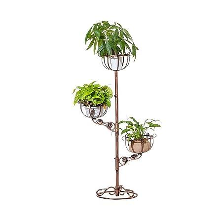 Baoyouni 3 niveles planta Stand jardín de Metal decorativo ...