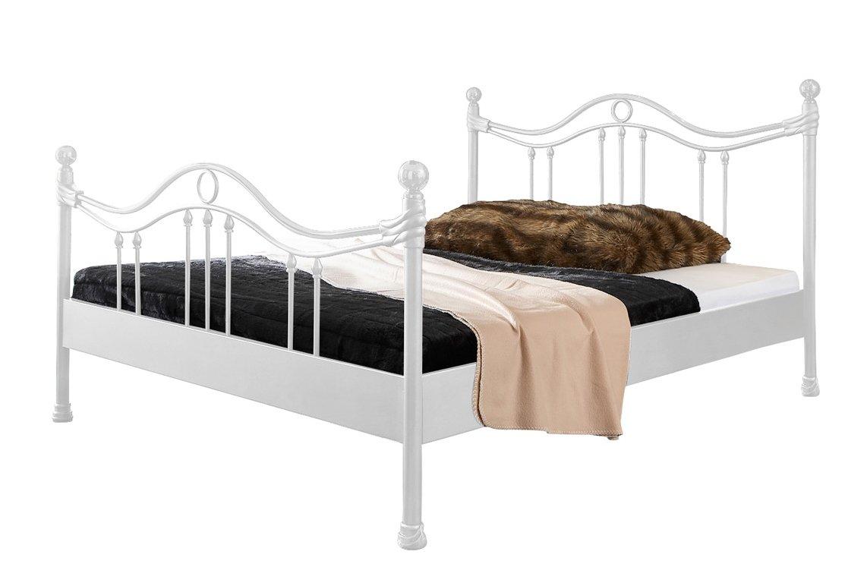 Metallbett weiß 180x200  Metallbett Kea Bett in weiß 140 x 200 cm mit Verzierungen an ...