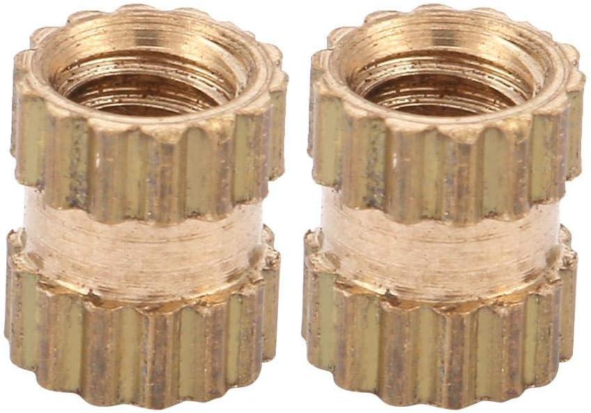 M2.5 Thread Brass Knurled Threaded Insert Embedment Nuts Assortment Kit M2.5 * 4 * 3.5(100pcs)