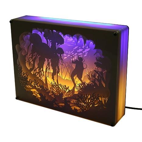 3d Shadow Paper Sculptures Light Boxes Amzstar Papercut Light Boxes