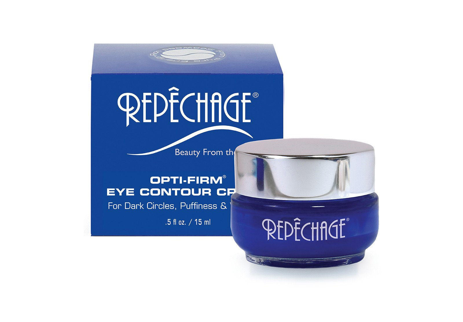 Repechage Opti Firm Eye Contour Cream For Dark Circles Puffiness and Wrinkles 0.5 oz