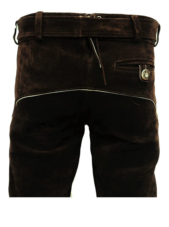 Trachtenhose Men's Straight Leg Trousers Brown Brown