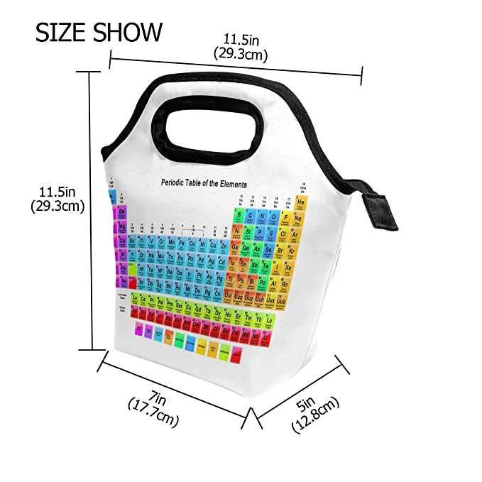 amazoncom periodic of table element lunch box insulated cooler thermal reusable tote bag portable handbag kitchen dining