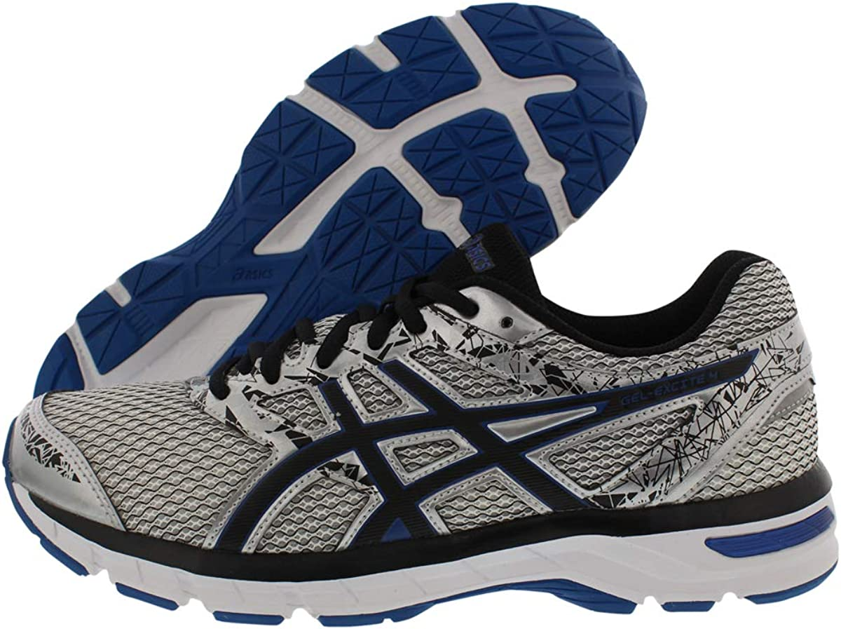 ASICS Gel-Excite 4 Men s Running Shoe, Silver Black Imperial, 8.5 M US
