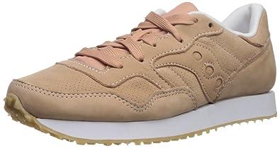 Saucony Originals Women's Dxn Trainer CL Nubuck Sneaker, Pink, 5 Medium US