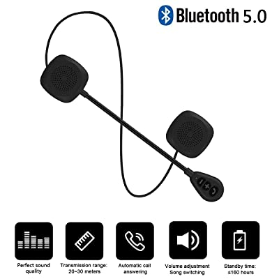 Baile Upgraded Version Wierless Motorcycle Helmet Headset with Bluetooth 5.0, High Sound Quality & Louder Bluetooth Headset, Wireless Helmet Heaphones Communication Systems for Motorbike, 0.45'' Slim: Home Audio & Theater