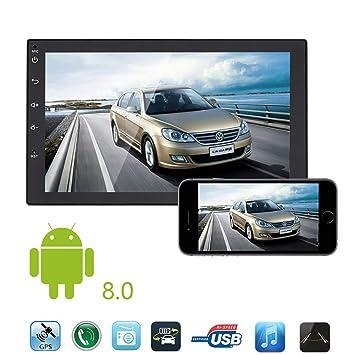 LHXHL Radio EstéReo Bluetooth Para Auto Con Android 8.0, Pantalla TáCtil De 7 , NavegacióN Gps, ...