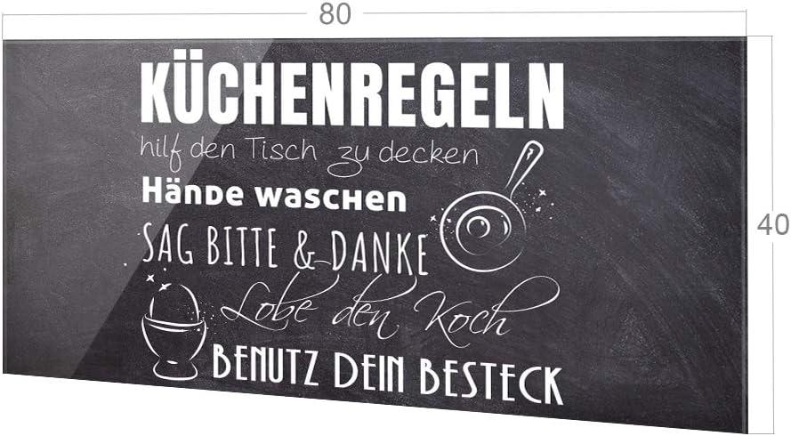 Fliesenspiegel K/üche K/üchenspruch K/üchenr/ückwand Glas Cocktailglas // 80x40cm GRAZDesign Spritzschutz K/üche Glas braun Wandpaneele K/üche lustiger Spruch