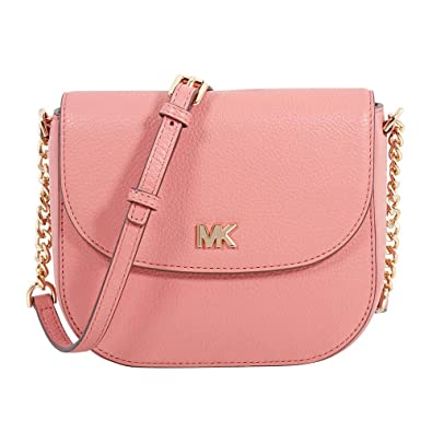 ce3dd2b5f895 Michael Kors Mott Pebbled Leather Crossbody- Rose  Handbags  Amazon.com