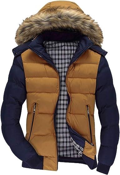 Hombres Invierno Manga Larga con Capucha Bolsillo Cremallera Abrigo Pullover Cazadoras De Plumas Calor Grueso Chaquetas Acolchado Camisa Outwear riou