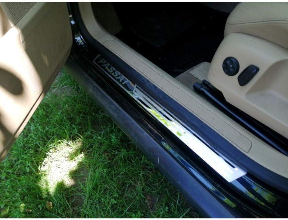 Plaques D/éraflure Protecteur Autocollants pour Volkswagen Passat B5 B6 B7 2011-2018 Bienvenue P/édale Kick Plates Scuff Threshold Bar BTSDLXX 4Pcs Voiture Externes Acier Inoxydable Seuils Porte