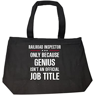 Gift For Genius Railroad Inspector Tote Bag With Zip