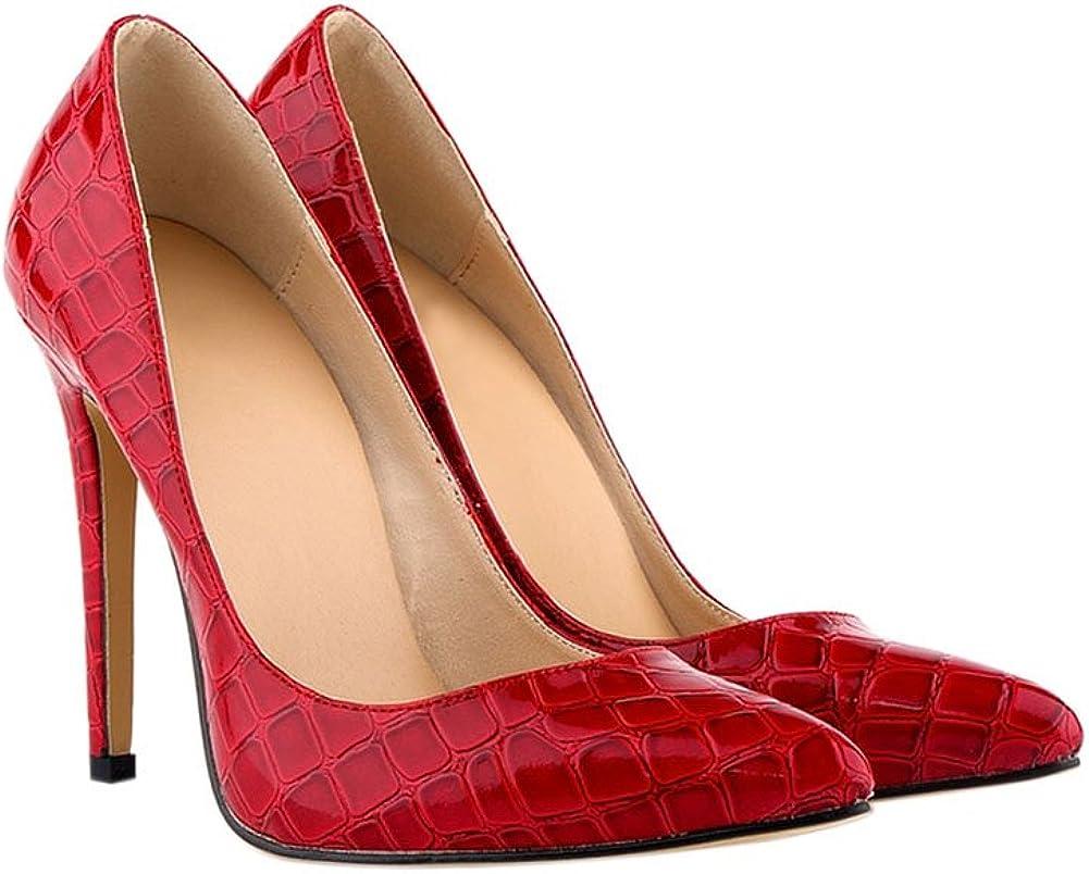 Meijunter Dames Crocodile mod/èle 11CM Talons Hauts Stilettos Chaussures