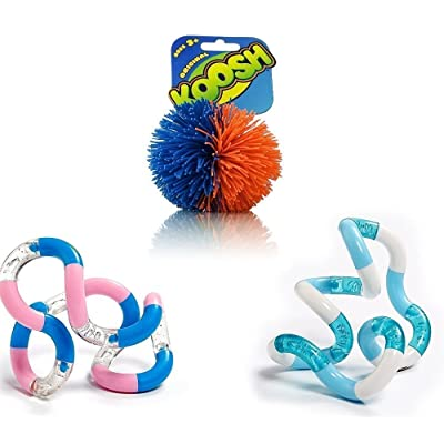 Koosh Ball , (2) Tangle Jr. - Both, The Koosh Balls and the Tangles are Classic Sensory Fidget relieve stress ADHD Anxiety: Toys & Games